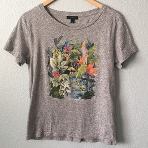 J. Crew tropical rainforest bird print t-shirt